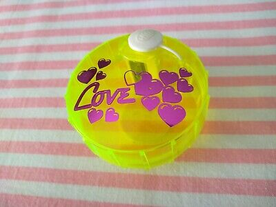 Taille Crayon Vintage 80s Pencil Sharpener Love Heart Fluo