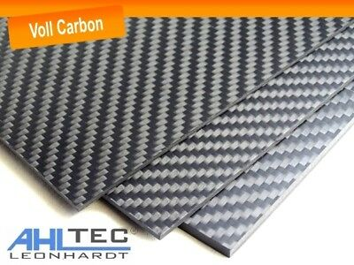 Carbon Board 4mm / Cfk Carbon Fiber / Twill Full Carbon / Size Selectable