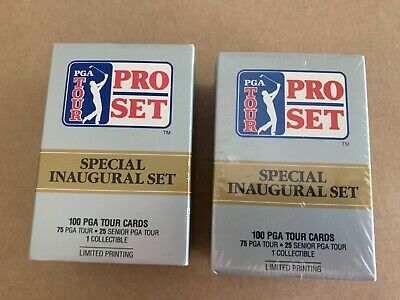 PGA Tour Pro Set Trading Card's 2 x full sets new