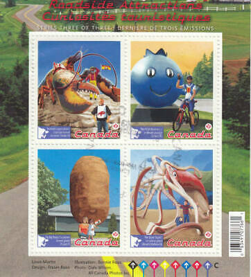 Canada 2011 Roadside Attractions Souvenir Sheet