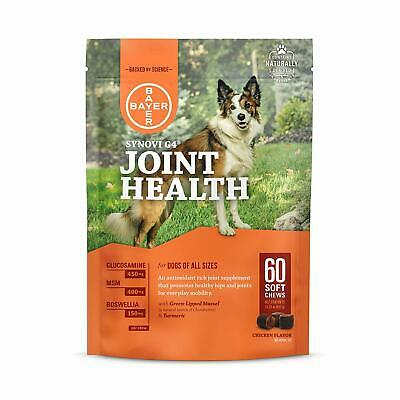 Bayer Animal Health Synovi G4 Soft chews for Dogs, Joint Supplement, Glucosamine