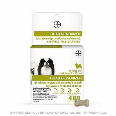 Bayer Animal Health Quad Chewable Dewormer for Small/Medium/Large Dogs