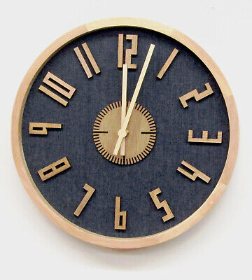 """Hermle  New 12""""Wall Clock -Pine Surround Non-Chiming Hm-31008"""