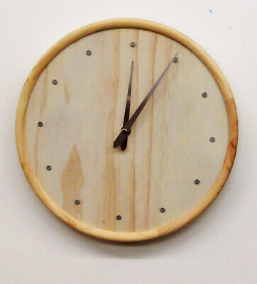 """Hermle  Hm 31009  New 12"""" All Pine Non Chiming Wall Clock"""