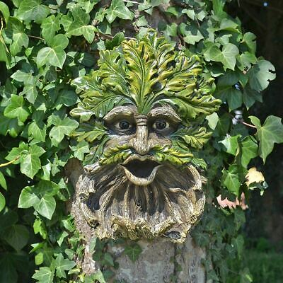 Treant Face Wall Plaque Bird Feeder House Greenman Garden Ornaments Wicca Pagan