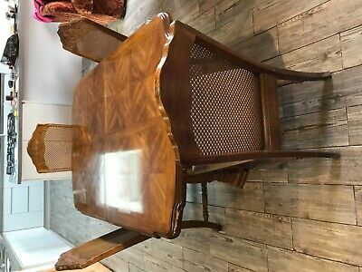 1989 Vintage 6 Seater Extending Dining Table and 6 Chairs used