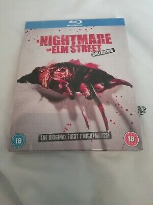 a nightmare on elm street blu ray collection 5 disc set brand new & sealed