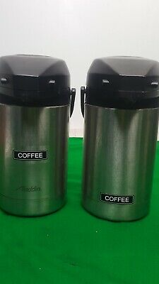 Set of 2 Aladdin Coffee Dispensers Hot Drink / Tea / Water Catering