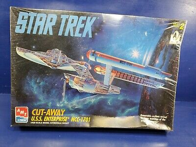 STAR TREK U.S.S. ENTERPRISE CUT AWAY MODEL AMT-Ertl Model Kit 1/650 Scale 1995!