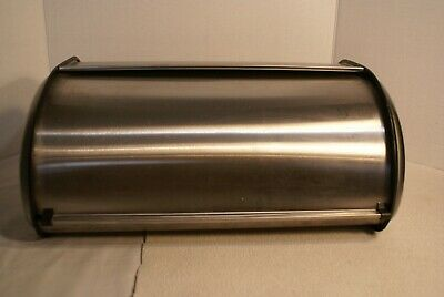 Stainless Steel Rolling Lid Bread Box Rolling Lid Pre Owned  No Box