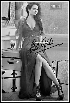 Eva Green, Autographed, Cotton Canvas Image. Limited Edition (EG-102)