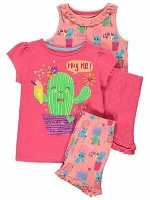 Girls 2 Pack Hug Me Pyjamas - Burnt Orange - Size: 5-6 Years - New with Tags