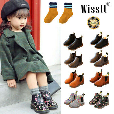 Winter Children kids Ankle Martin Boots Snow Baby Shoes Toddler Boys Girls Boots