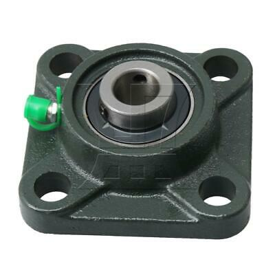 Aperture 15mm Square Flange Outer Spherical Bearing 4 Blot for UCF202