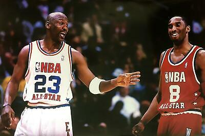Michael Jordan & Kobe Bryant NBA All-Star Game Poster 24 x 36