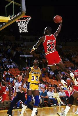 Michael Jordan Dunking On Magic Johnson 24 x 36