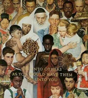 """VTG Norman Rockwell Art Print 12"""" x 15"""" CLASSIC IMAGES SOCIAL JUSTICE"""