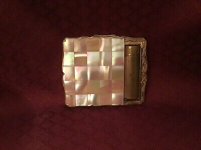Vintage - Mother Of Pearl Compact By Stratton #1 Of England 1950s