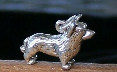 Vintage Heavy, Large Sterling Silver Scotty Dog Charm 5 Gr. Free Shipping