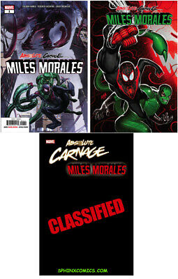 Absolute Carnage Miles Morales 1 Main & Variant Lot 3 Marvel Comics Nm