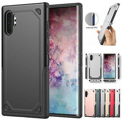 For Samsung Galaxy Note 10 Plus Rugged Hybrid Armor Hard Protective Case Cover
