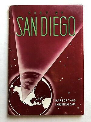 1938 Port of San Diego Industrial and Harbor Data w/ Old Pictures