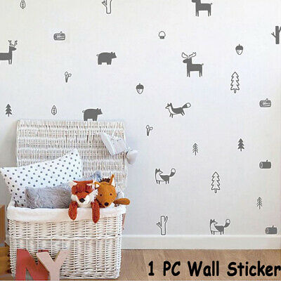 Animals Home Decoration Woodland Mural  Wall Stickers Modern Decals Wall Art