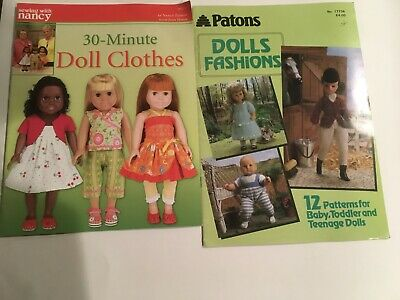 Sewing With Nancy 30 Minute Doll Clothes Book & Patons Dolls Fashions