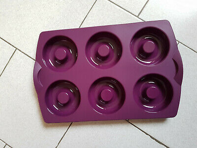 Moule A 6 Hoops Beignets Tupperware - Neuf - 6 Cavites 80-90 Ml - Violet