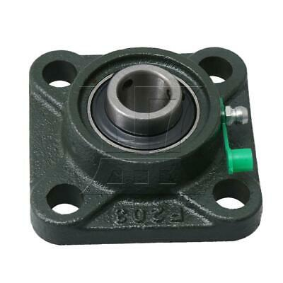 Aperture 17mm Square Flange Outer Spherical Bearing 4 Blot for UCF203