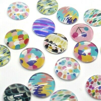 10 x Soft Line Patterned Cabochons for Earrings 12mm 10 pieces in Pairs