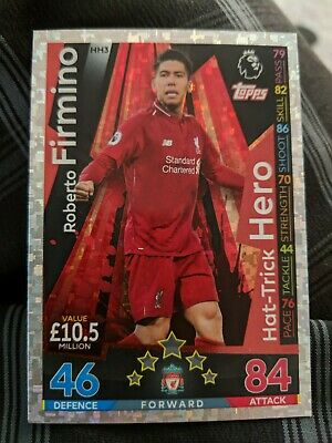 Match Attax Extra 2018/19 Firmino Hat Trick Hero Club Cards 18/19