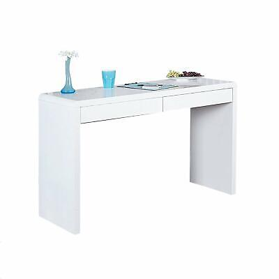 BUREAU MODERNE HAUTE Brillance Blanc Table de Bureau Table ...