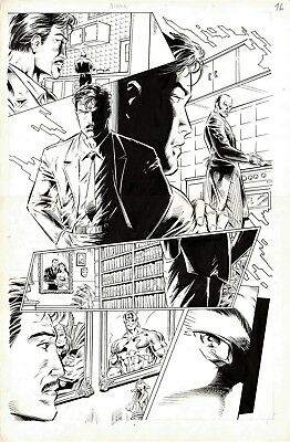 Avengers #1 Page 16 Original Art Iron Man Thor Captain America Mike Deodato Jr