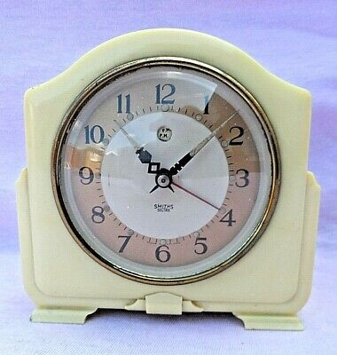 Vintage Smiths Sectric Cream Bakelite Electric Alarm Clock Nice Condition