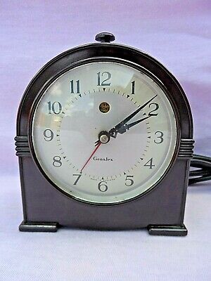 Vintage Genalex Dome Shaped Bakelite Electric Alarm Clock Gwo Excellent Conditio