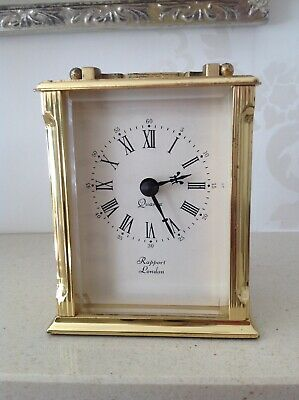 antique/vintage solid brass carriage clock RAPPORT LONDON Quartz