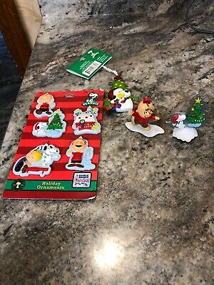 Lot Of 8 Peanuts- Snoopy- Charlie Brown Christmas Ornaments Pigpen