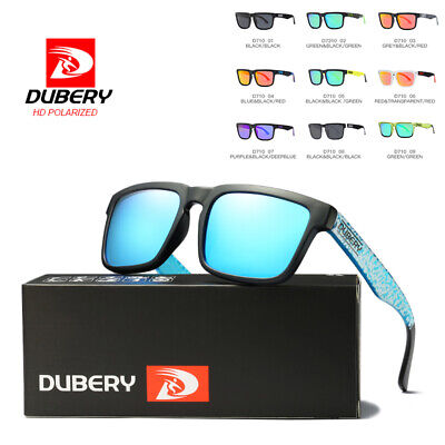 DUBERY Mens Womens Vintage Polarized Sunglasses Driving Eyewear Sports UV400