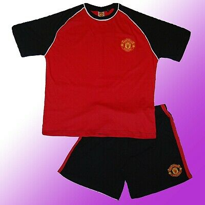 Mens Manchester United Football Club Man Utd MUFC Official Short Pyjamas S - XXL