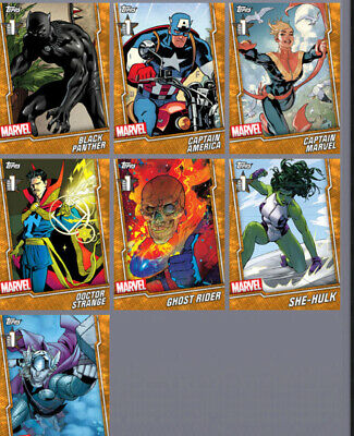 Topps Marvel Collect Card Trader Orange Week 1 Base Free Set Tier 6 w/ Award