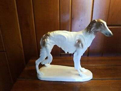MINT Early VINTAGE HERTWIG / KATZHUTTE BORZOI Wolfhound Standing Dog German