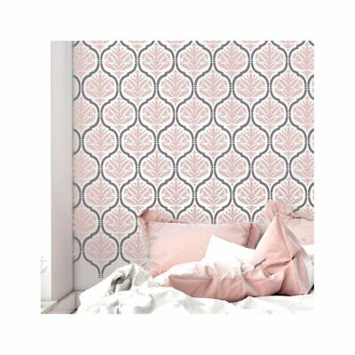 JASMINE TRELLIS & DAMASK 2 Layer Moroccan Furniture Wall Floor Stencil for Paint