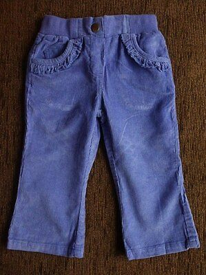 Girls' Blue Cotton Trousers 4-5 Years Tesco F&F New with tags