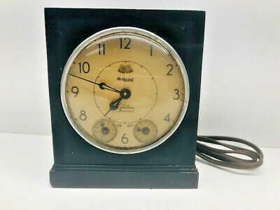 Vintage Electric Hotpoint Telechron Movement Clock / Timer - Works