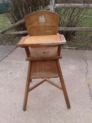 Vintage Wooden Baby High Chair  w/Removable Tray by Lehman Youngster Furniture