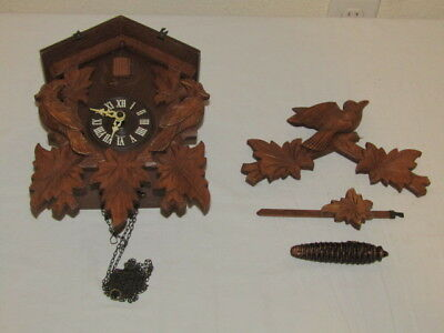 Unknown Black Forest Cuckoo Clock Small Coo Coo Clock - READ