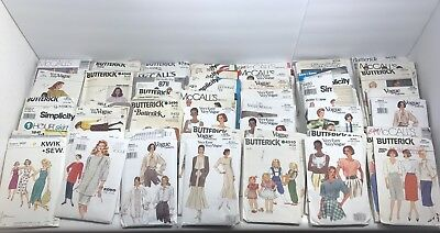 Huge Lot 125+Vintage Sewing Patterns -Vogue Simplicity Butterick Advance & More