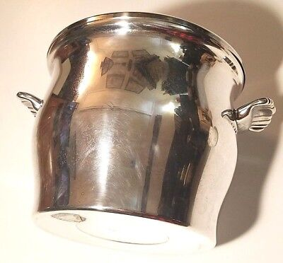 Wm William Rogers Paul Revere Silver Plate Ice Bucket With Glass Liner 3027