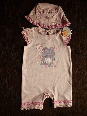 Girls' Set Outfit Romper Suit Summer Hat 3-6 Months New with Tags Matalan